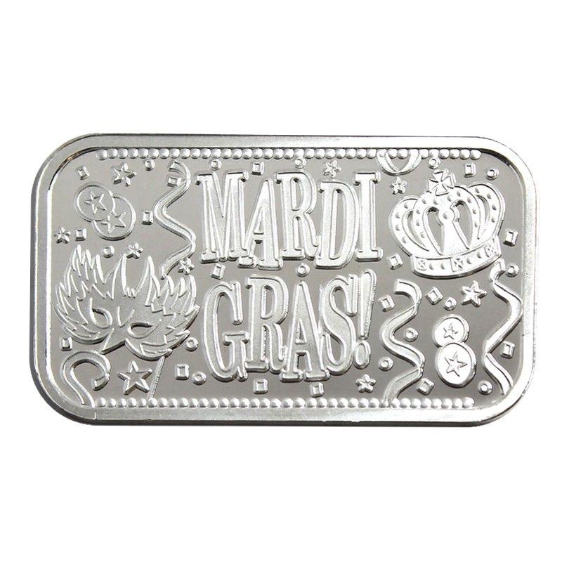 Mardi Gras 1oz 999 Silver Bar Silver Bars Mardi Gras Mardi