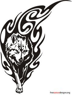 dessin de tattoos de loup tribal muscu pinterest. Black Bedroom Furniture Sets. Home Design Ideas