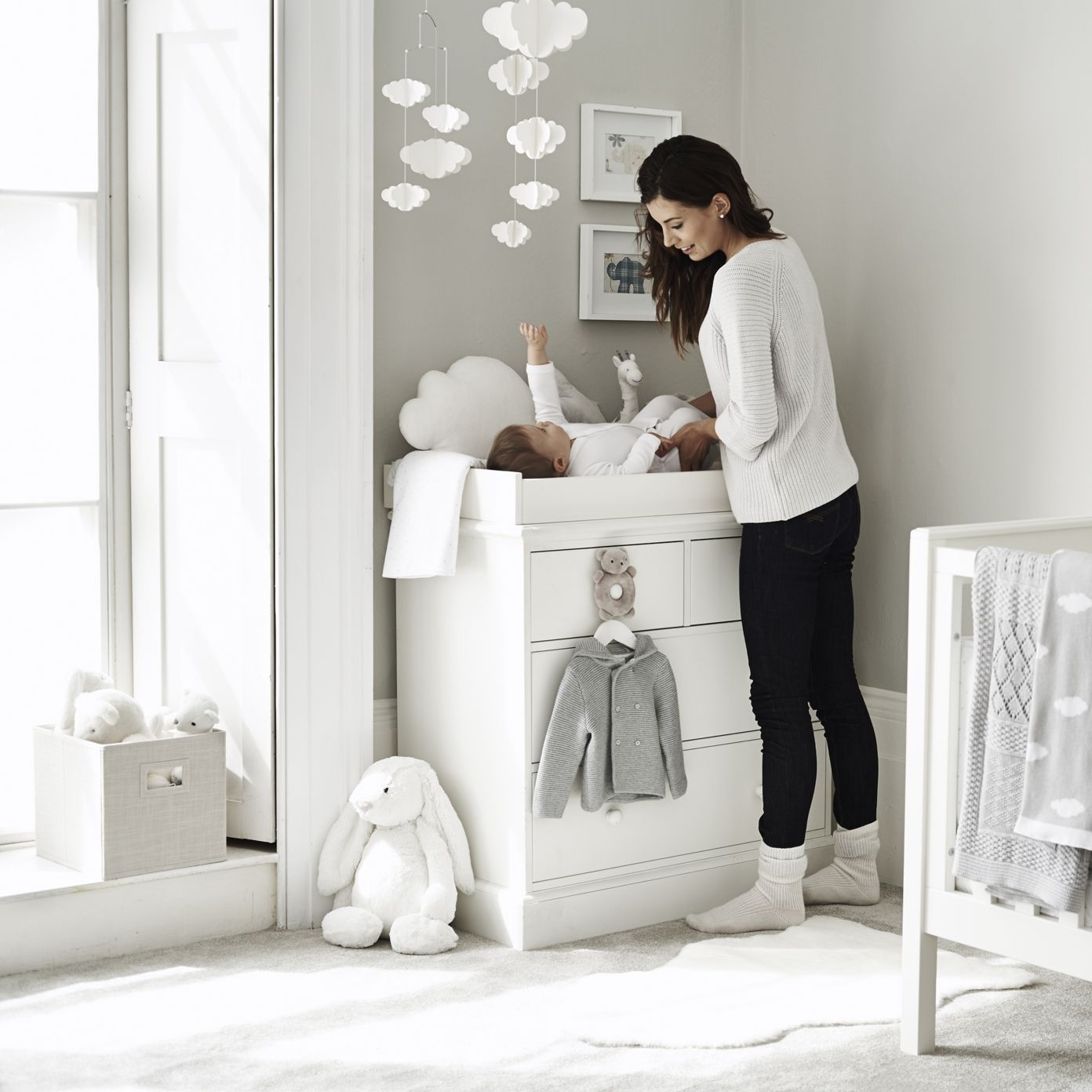 Cloud Paper Mobile | The White Company | Cribs | Pinterest | Paper ...