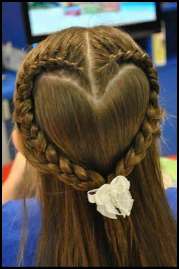 Herz Frisur Kinder Friseur Friseur Frisur Herz Kinder Zopf Lange Haare Geflochtene Frisuren Kinderfrisuren