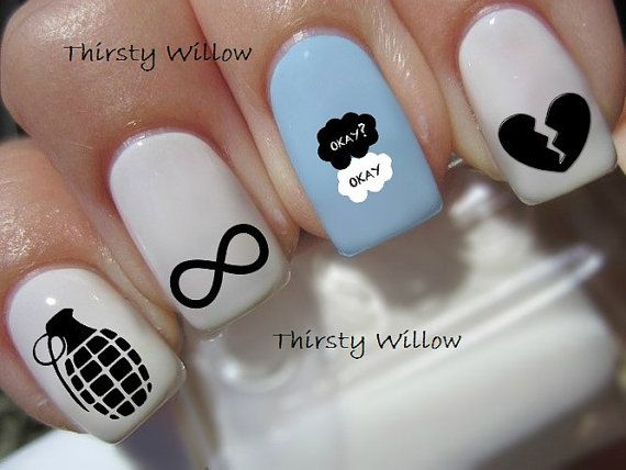 The Fault In Our Stars Nail Decals By Thirstywillow On Etsy 3 99