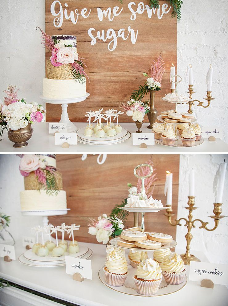 Give me some sugar gold pink and white wedding dessert buffet display taylor mitchell photography also romantic indoor garden inspiration ideas rh pinterest