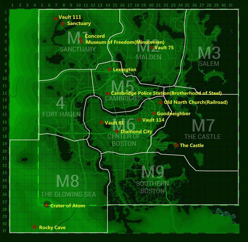 Diamond City Map