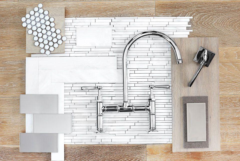 Twin Gable | Barn & Vine Bridgehampton -- tile, cabinets, faucet ...