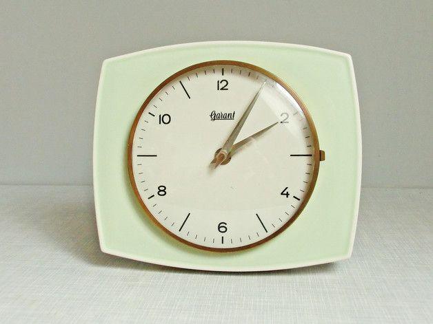 Küchenuhr Retro ~ Vintage wanduhren mintgrüne er wanduhr küchenuhr ein