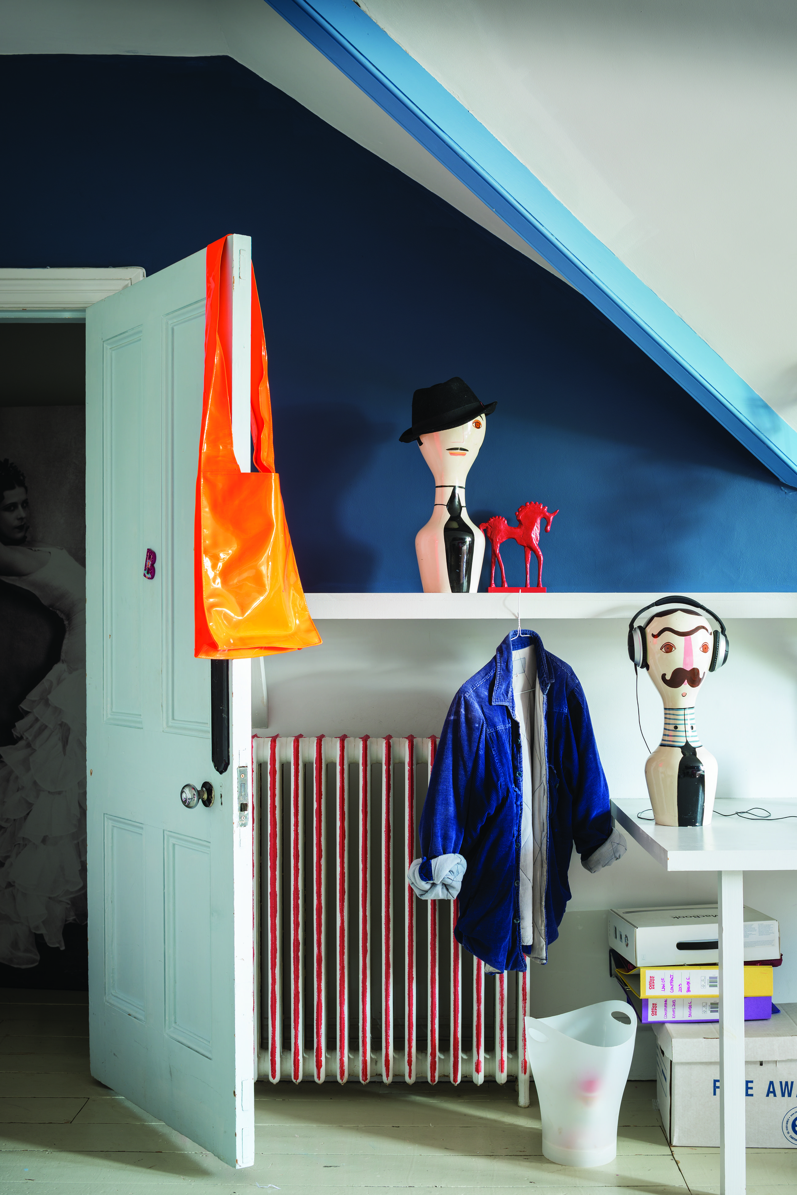 Blue bedroom by Farrow & Ball Wall Stiffkey Blue, Cook's Blue ...