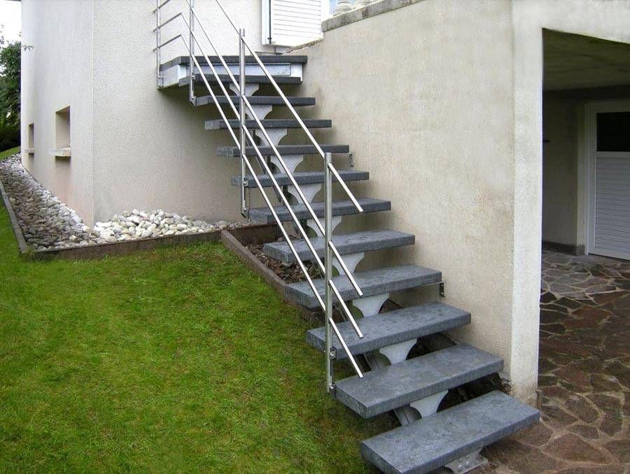 Escalier Exterieur En Kit Leroy Merlin Spirwill Ext Escalier Exterieur En Aluminium In 2020 Stair Ladder Open Trap Stairs