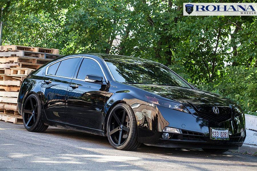 Rohana Rc Matte Black Concave Wheels Rims Fits Acura Tl - Acura tl rim