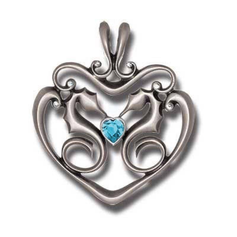 Bico pacific jewelry pewter pendant sea horses stubborn