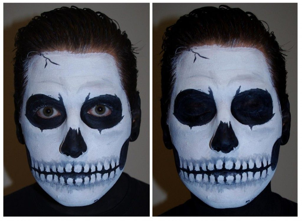 Halloween Skeleton Face Paint Easy Newchristmas
