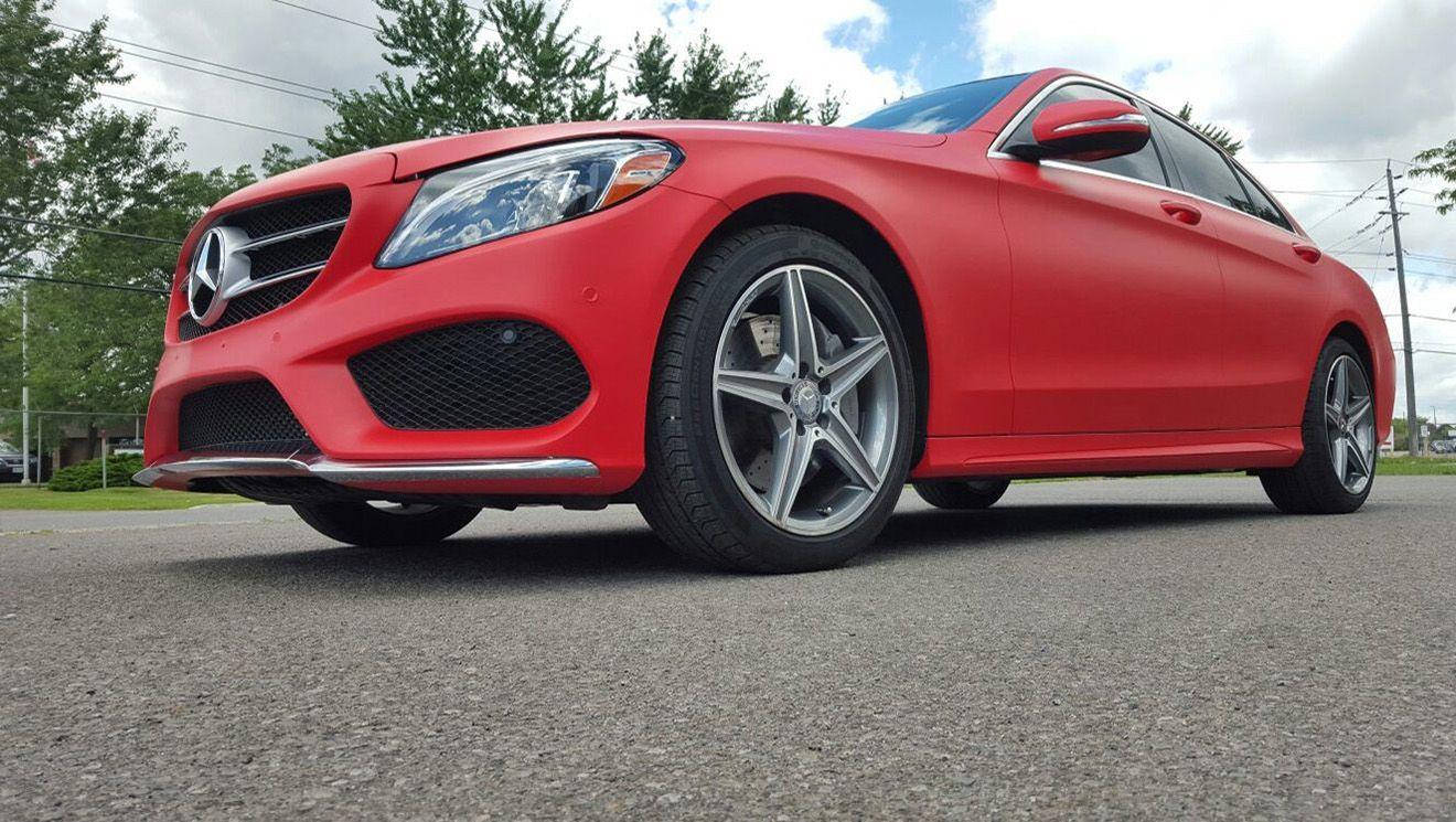 Mercedes C300 Matte Red Mercedes C300 Matte Red Color