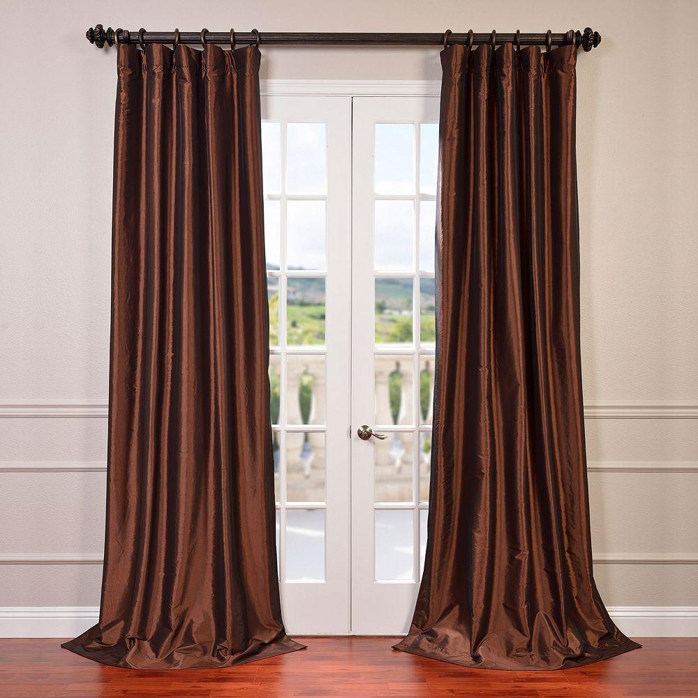 Eff Blackout 1 Panel Faux Silk Taffeta Window Curtain Half Price Drapes Panel Curtains Faux Silk Curtains