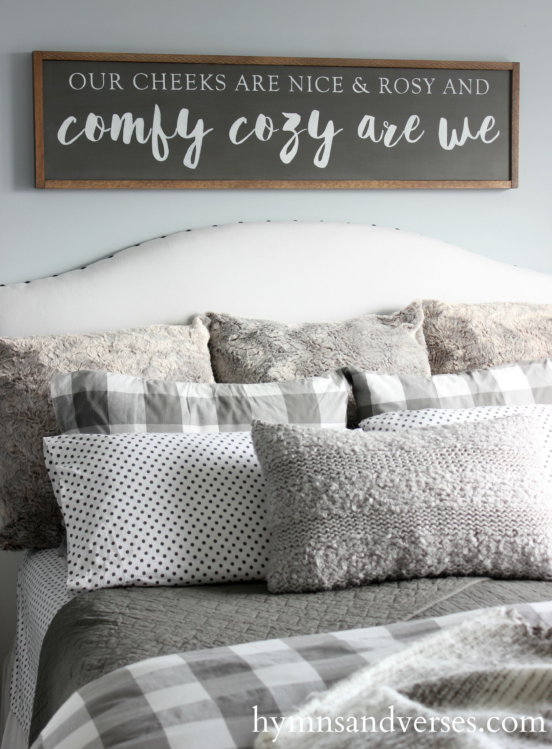 create a cozy winter bedroom for your home and a special