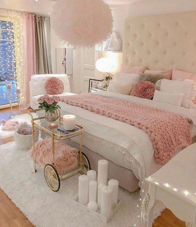Más de 50 ideas de decoración de dormitorio para chicas adolescentes 2019 42  Tess G