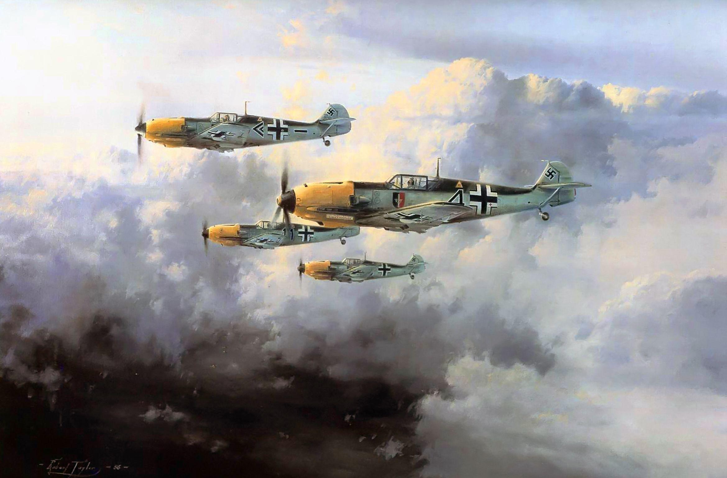 Jg 52 By Robert Taylor Bf 109e Aviation Art Aviation