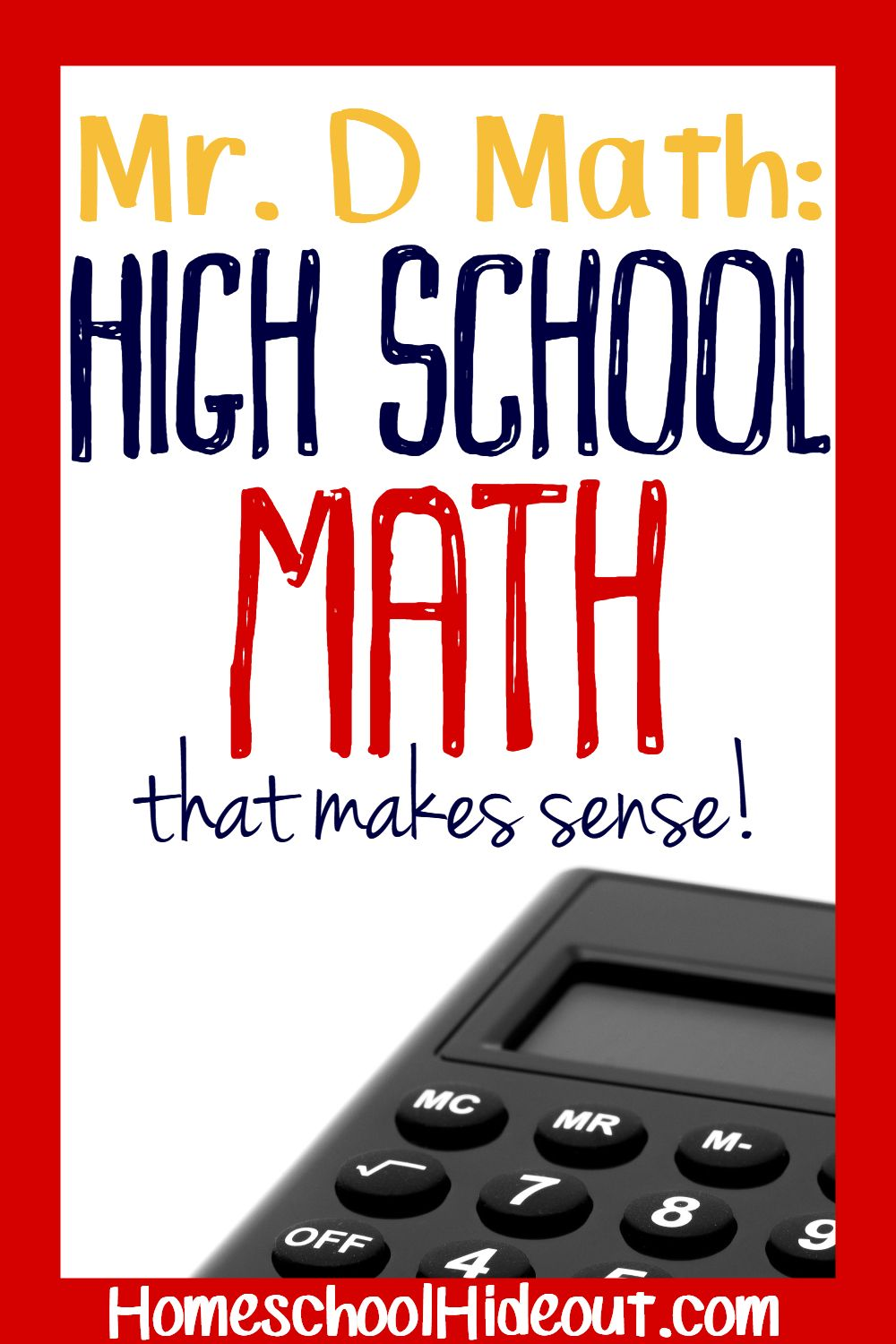Mr. D Math Online Classes for Middle & High Schoolers
