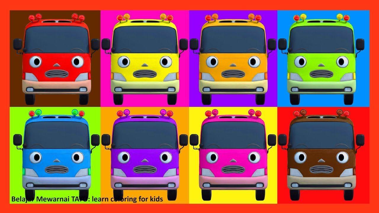 Learn Colors 8 Kinder The Little Bus Belajar Mewarnai Tayo Learn