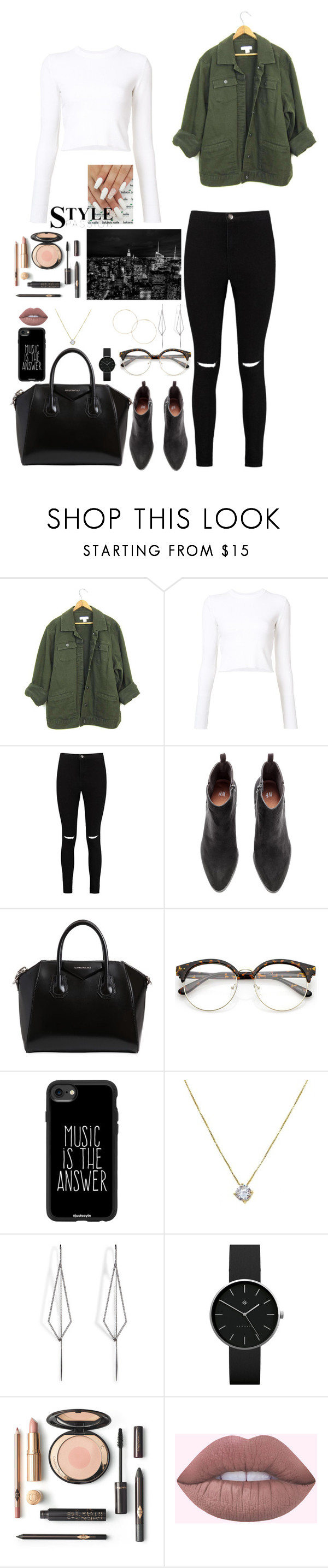 """""""Untitled #259"""" by gorlmoria on Polyvore featuring Proenza Schouler, Boohoo, Givenchy, Casetify, Diane Kordas and Newgate"""