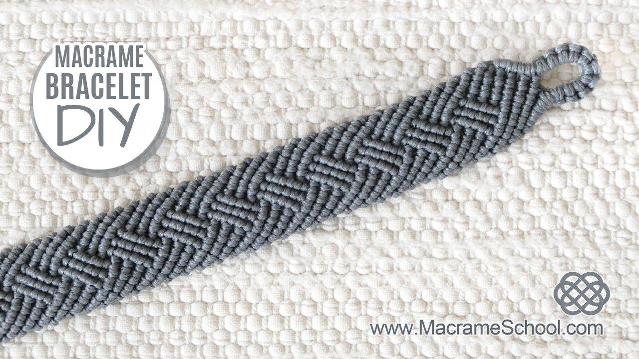 Braided Men's Bracelet Tutorial by Macrame School – MAKRAME