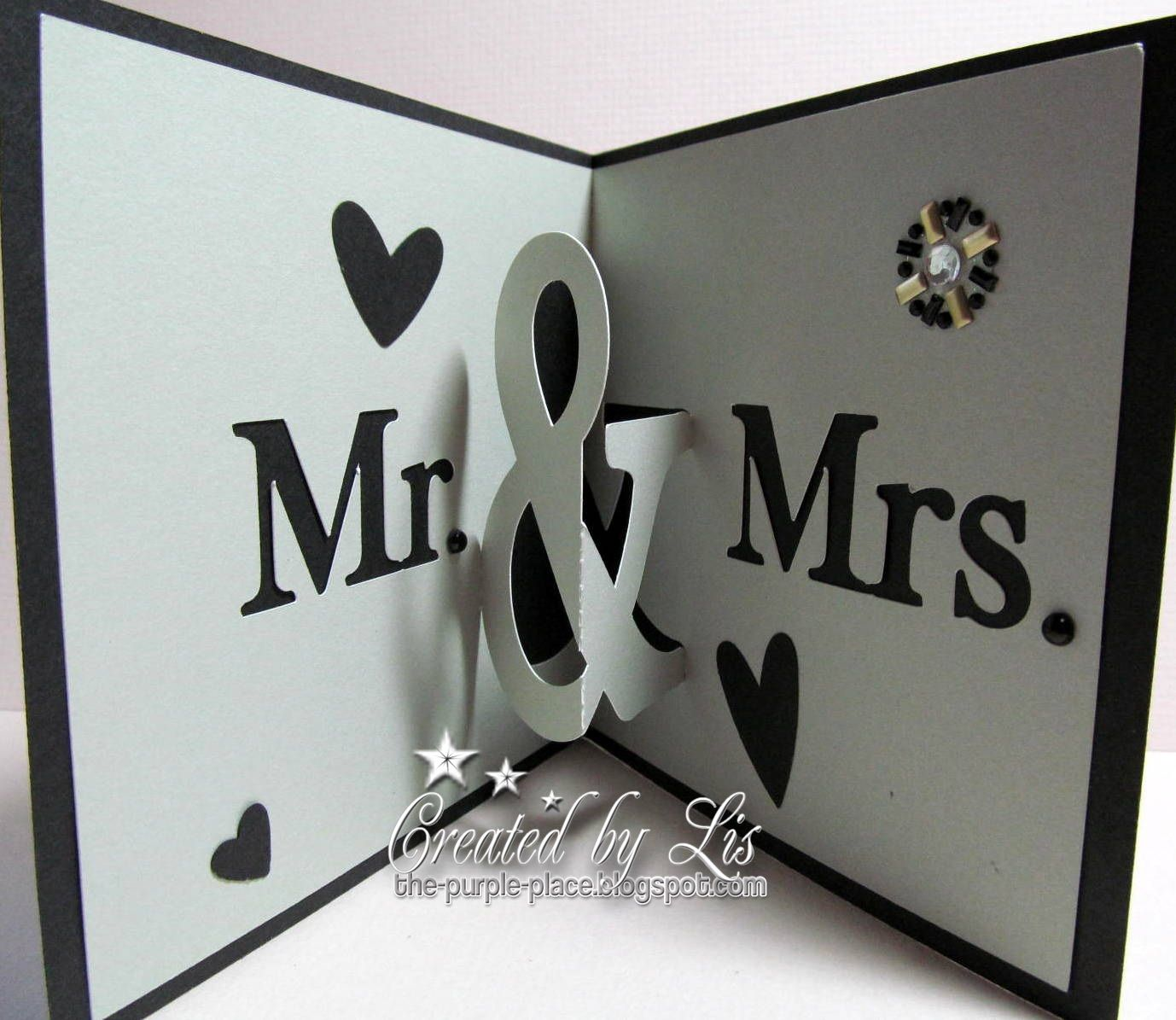 Mr and Mrs Pop Up Card cutting file by Alaa Studio   Project by the purple place
