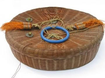 Antique Vintage Baskets Wicker Picnic Baskets Wire Baskets Wicker Sewing Basket Sewing Baskets Vintage Baskets