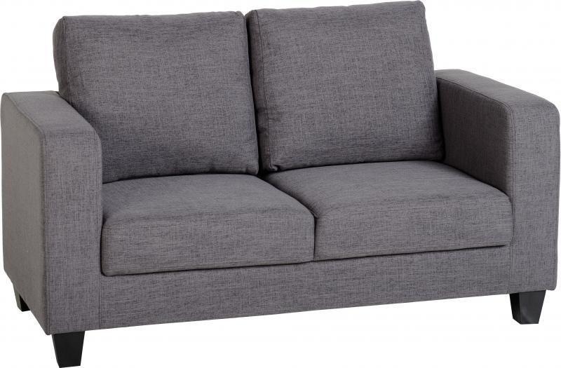 Tempo Two Seater Sofa Love Seat Grey Fabric Sofa Seater Sofa