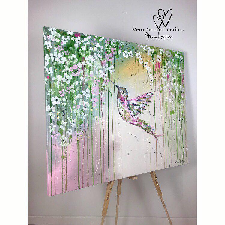 Toni Lane Hummingbird painting Hummingbird painting