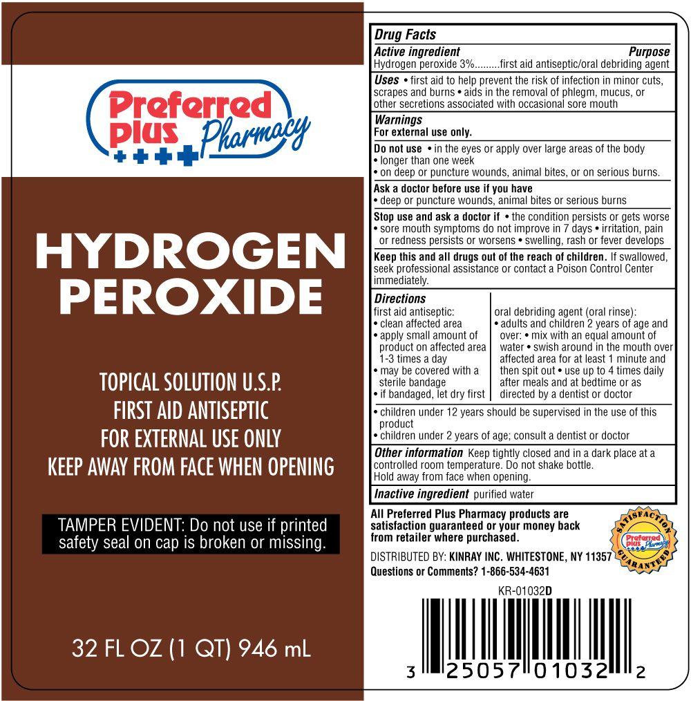 Hydrogen Peroxide Warnings
