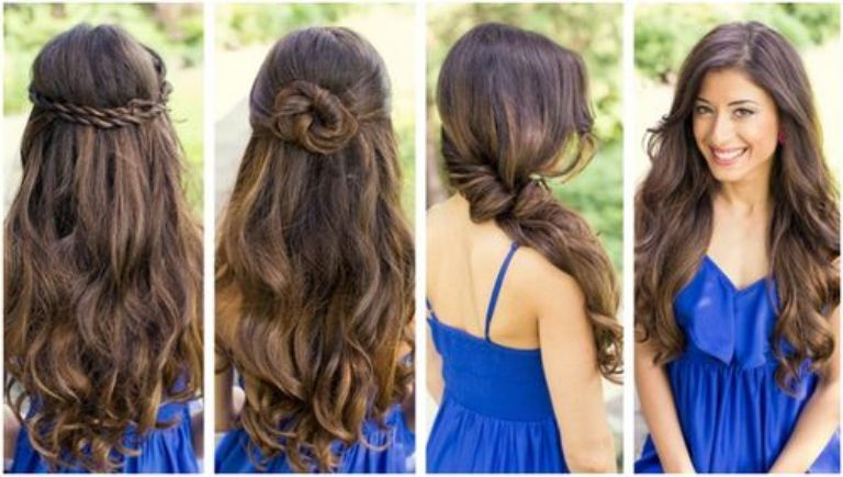 Awe Inspiring Hairstyle For Long Hair Hair Down And Easy Hairstyles On Pinterest Hairstyles For Women Draintrainus