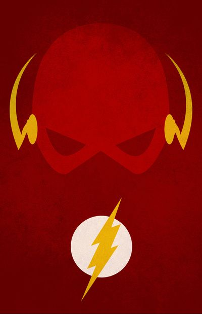 Flash superhero series minimal movie poster by andrea for Minimal art hero