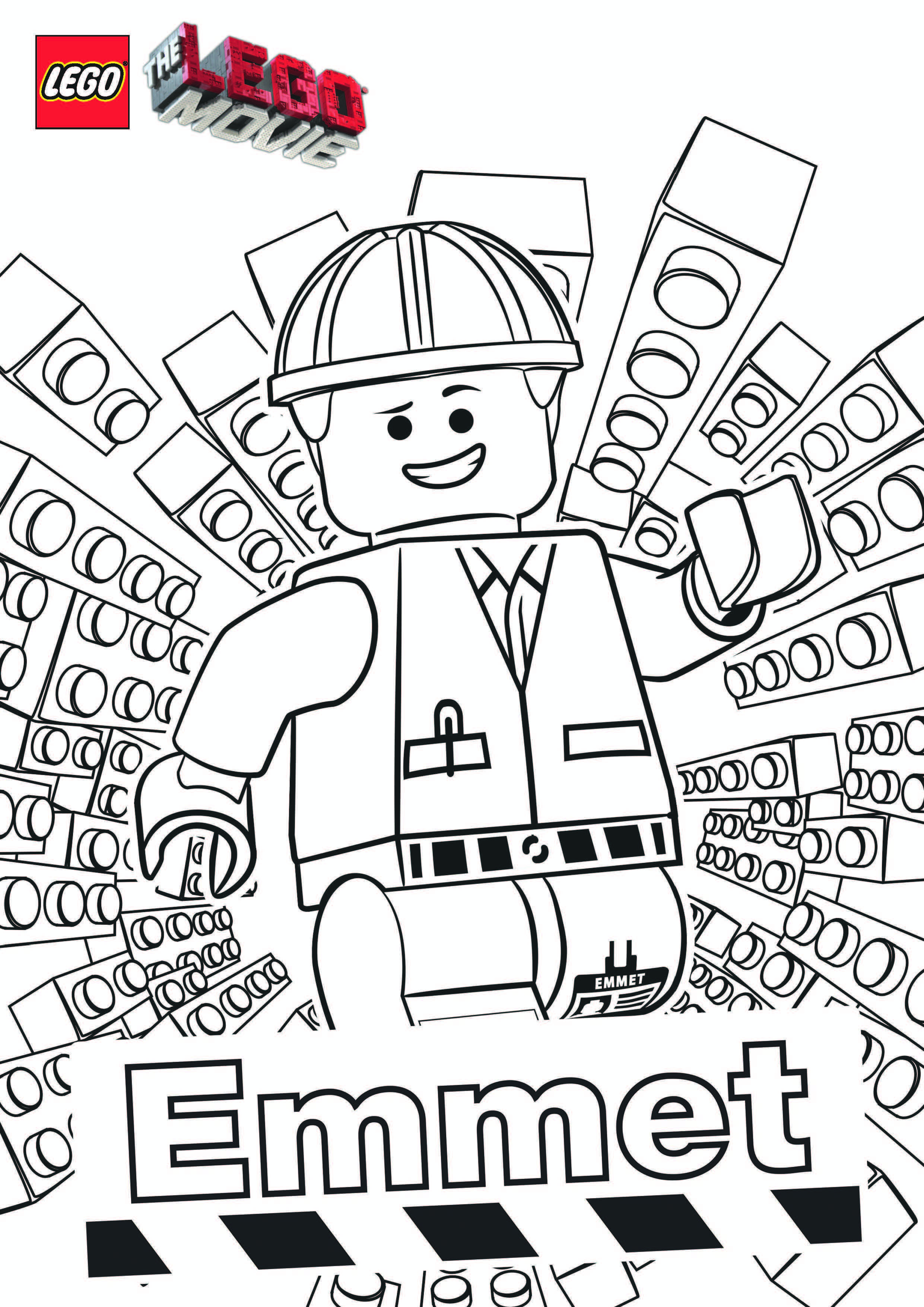The Lego Movie - Emmet Coloring Page | Avery | Pinterest