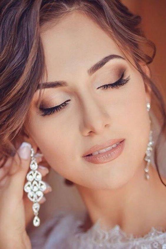 Bridal makeup ideas; Wedding makeup for brown eyes; blue eyes; Wedding makeup fo…