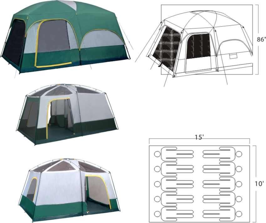 Mt Springer 15 x 10 2 Room Cabin Tent Cabin tent, Tent
