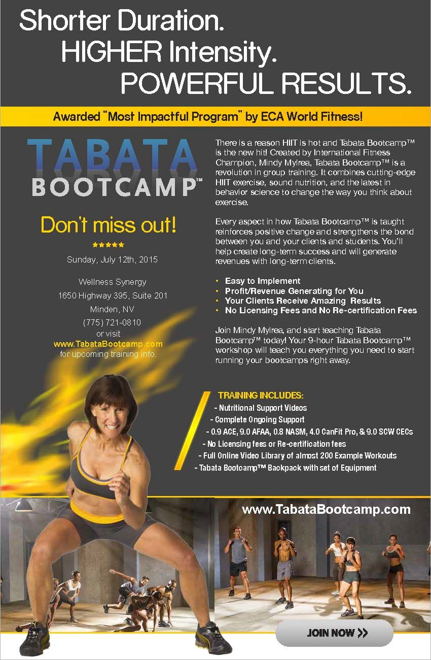 Tabata Bootcamp Trainer Certification Course Coming To Minden