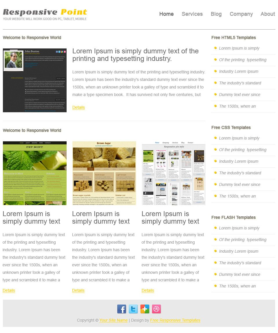 Responsive Point Free Css Template For People Who Wanna Create