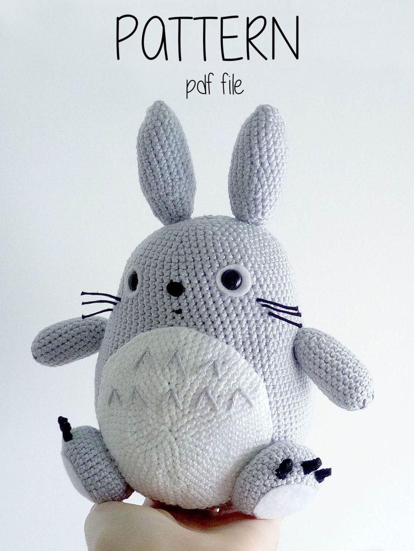 Amigurumi pattern Crochet Totoro pattern Crochet pattern | Etsy | 1500x1126