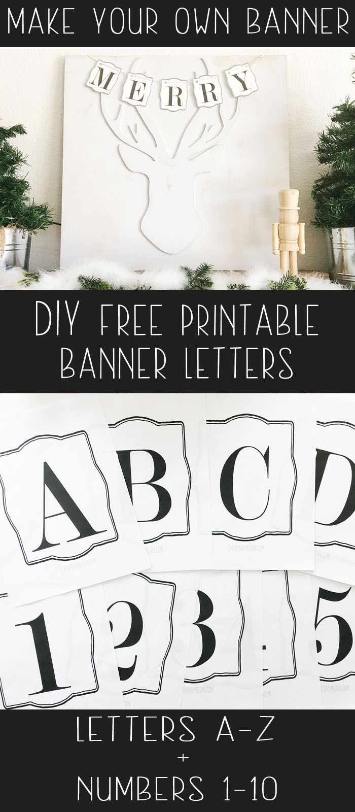 Free Printable Banner Letters Make Your Own Banner Diy