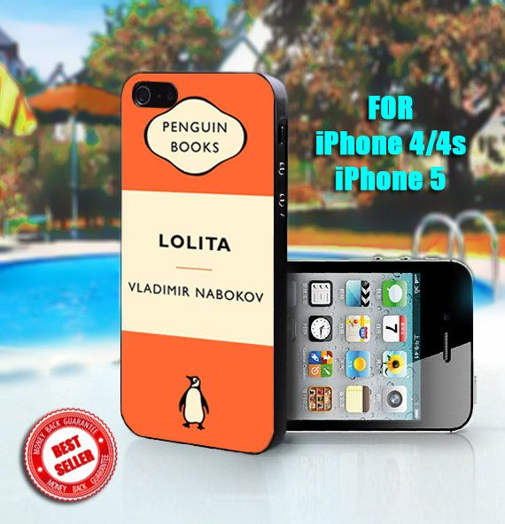 Penguin Book Cover Iphone Case : Lolita penguin book print on hard case