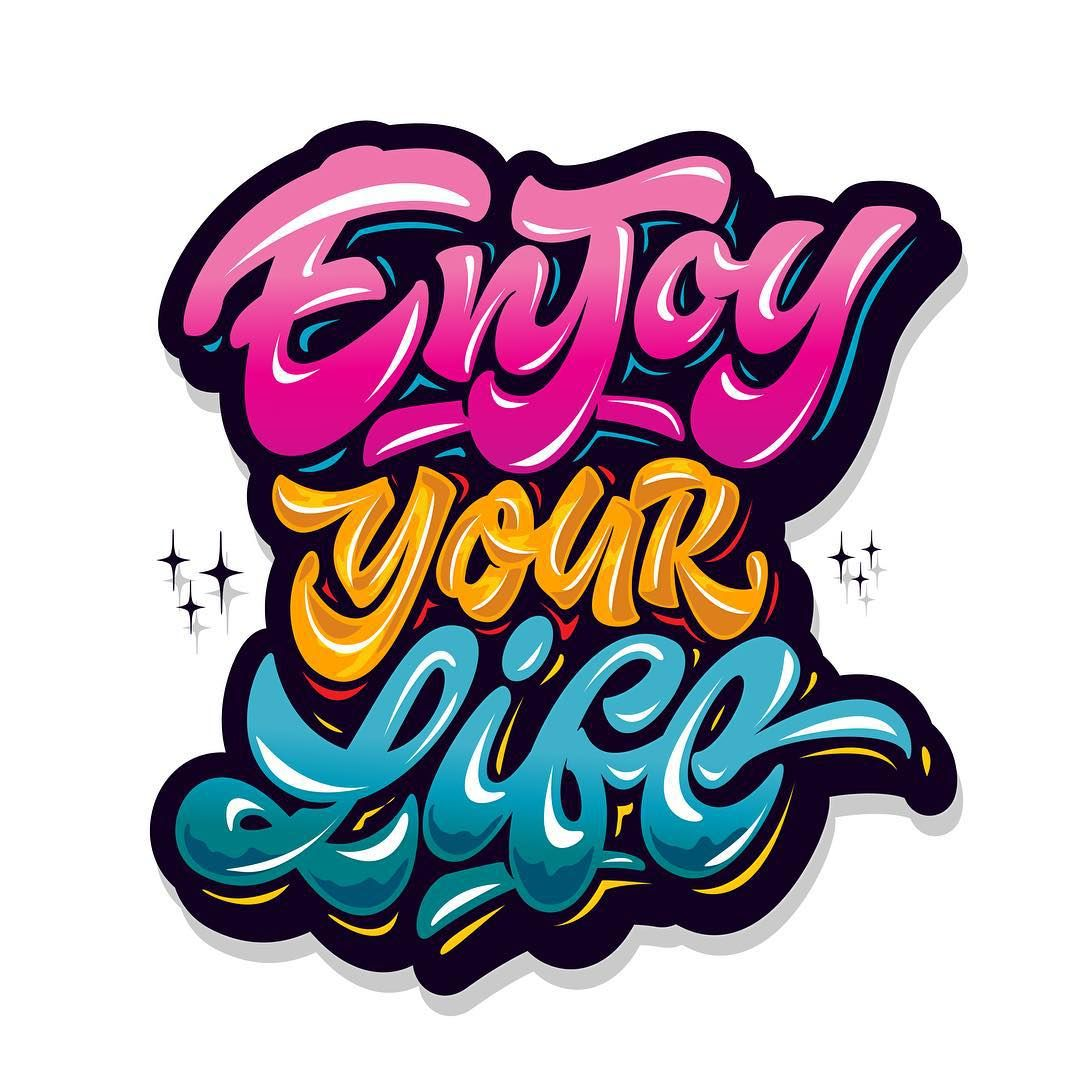 Yap Vector Enjoy Your Life Original Style Lettering Design Logo Type Print