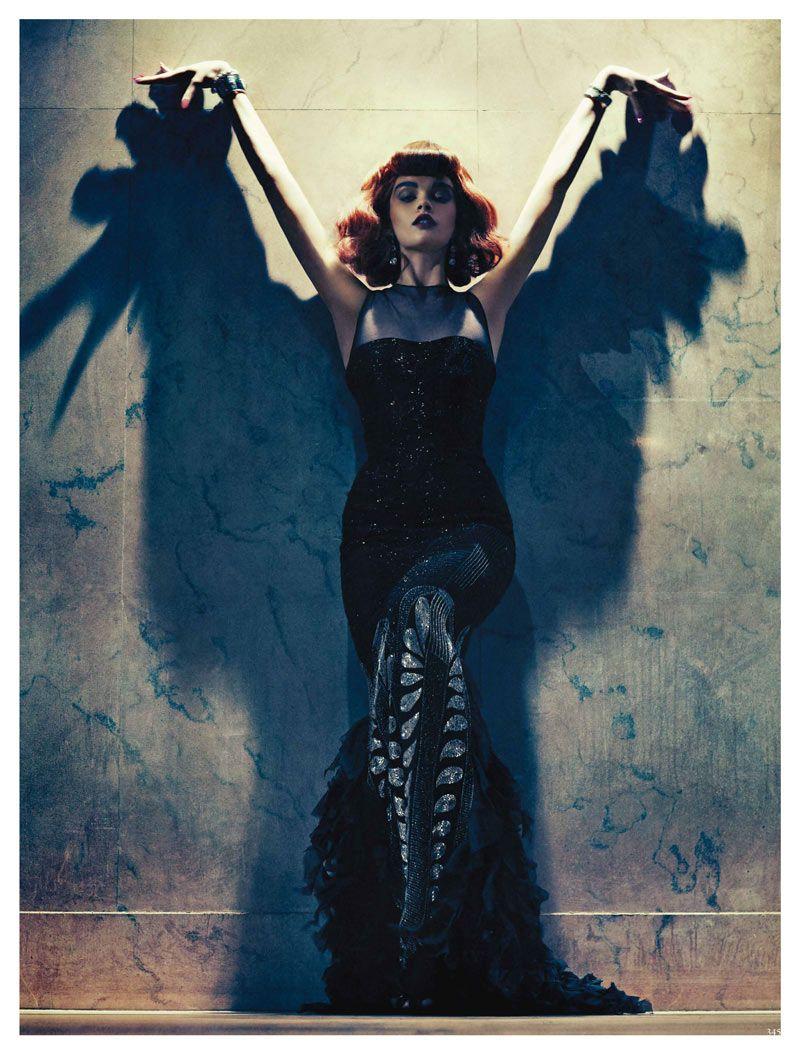 Crystal Renn by Sebastian Kim for Vogue Germany