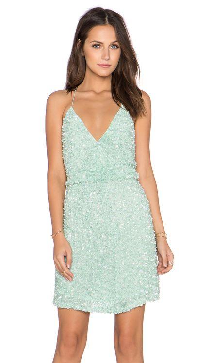 f6632192 MLV Mira Spaghetti Strap Sequin Dress in Mint | Dress Obsessed ...