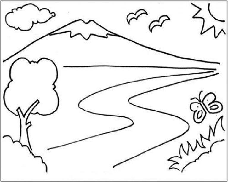 Kumpulan Gambar Untuk Mewarnai Anak Paud Sketsa Buku Mewarnai