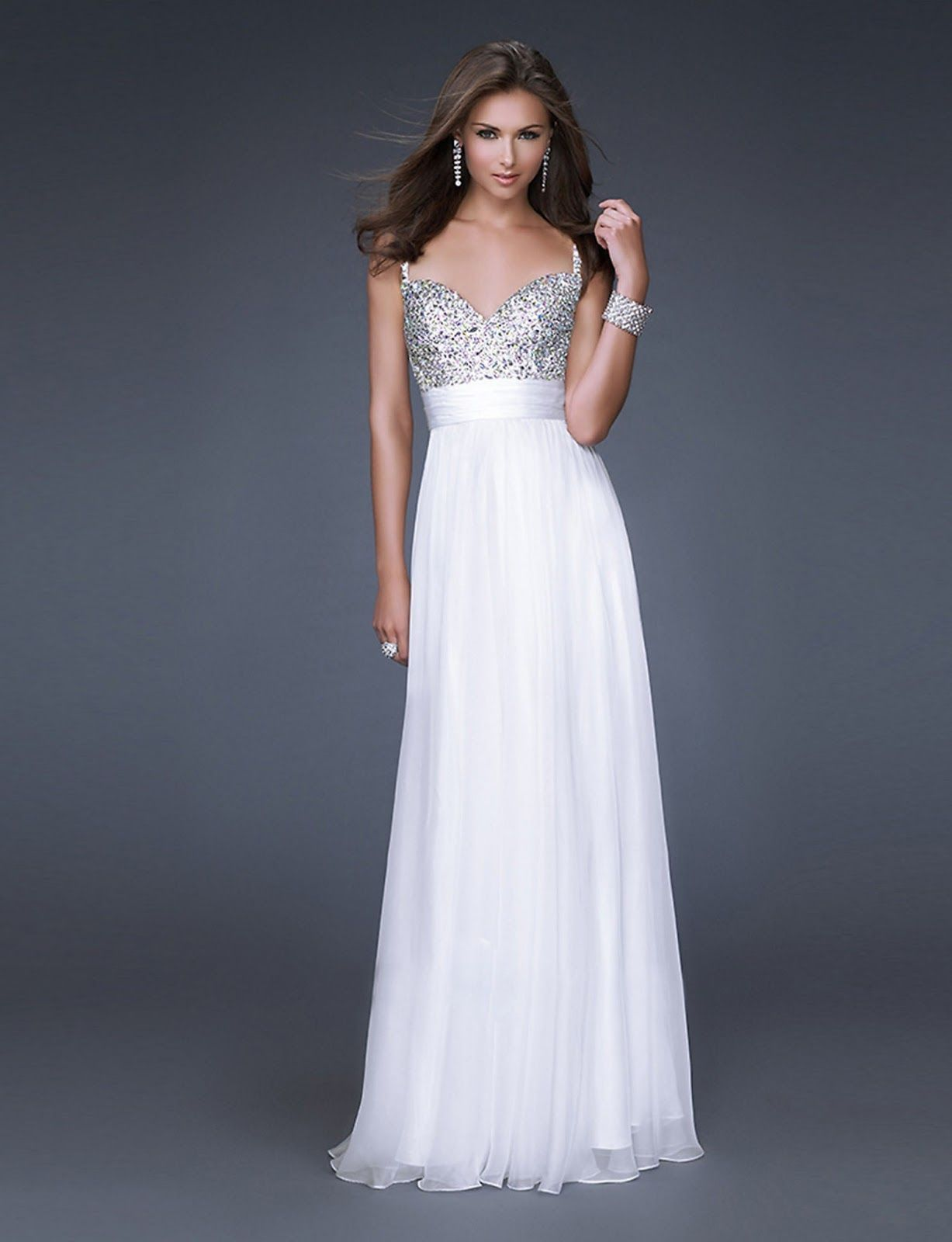 Elegant white wedding dresses fashion style pinterest long