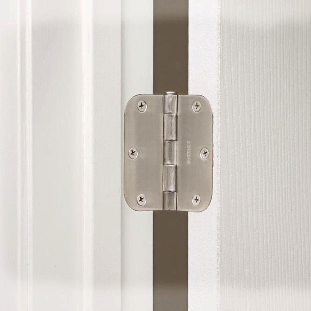 Everbilt 3 1 2 In X 5 8 In Satin Nickel Radius Door Hinge 20824 Door Hinges Home Depot Interior Door Hinges