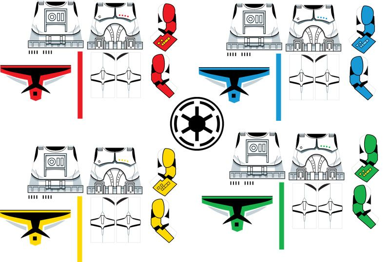 Index of \u0027Clone\u0027 Decal Templates Lego Minifig decal ideas