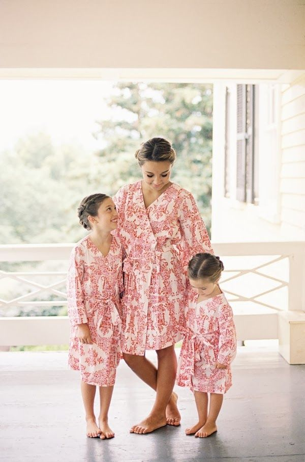 Bridesmaid and flower girl robes. | Real Brides | Pinterest