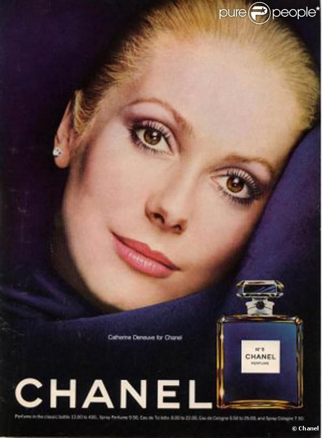 Catherine Deneuve pour la campagne du parfum Chanel N°5 ...