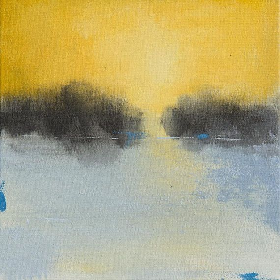Ready to Hang Abstract Landscape Canvas Print #sun #sunshine ...