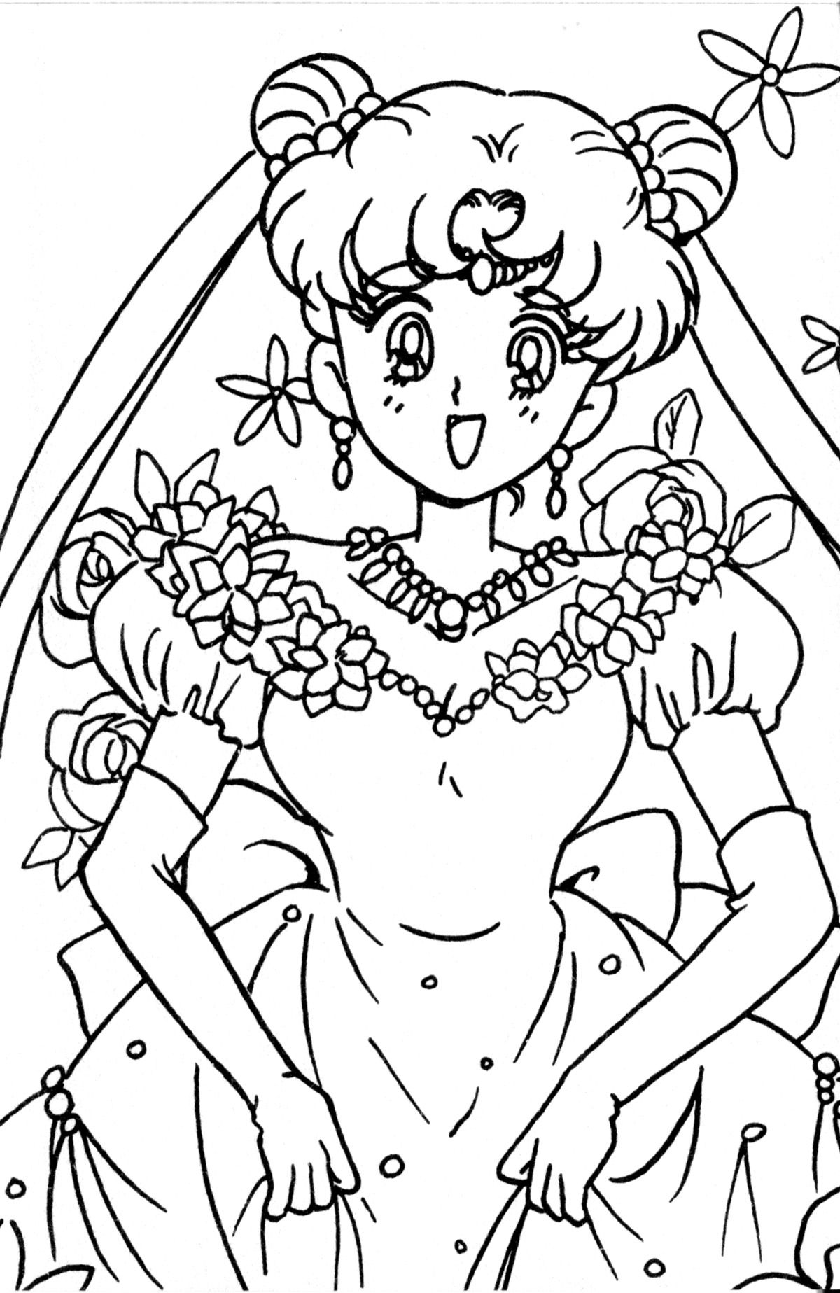 Tsuki Matsuri The Sailormoon Coloring Book Archive Sailor Moon Coloring Pages Coloring Books Cute Coloring Pages