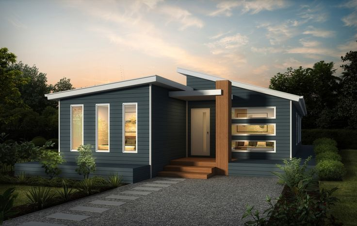 Split Roof Design: Prevalent 1 Split Skillion Roof Modern Contemporary Home